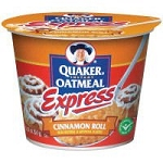 Quaker Oatmeal Cinnamon Roll Single Serve Cups, (Pack of 24)
