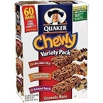 Quaker Chewy Granola Bars Variety Box , (Pack of 60)