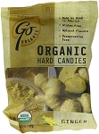 Go Naturally Organic Ginger Gluten Free Hard Candy 3.5 Ounce Bags, (Pack of 6)