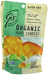 Go Naturally Organic Iced Mint Mango Gluten Free Hard Candy 3.5 Ounce Bags, (Pack of 6)