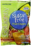 Go Lightly Sugarfree Fruit Chews Candy, 2.75 Ounce Bags, (Pack of 12)