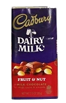 Cadbury Fruit & Nut Bar Milk, 3.5 Oz, (14 Pack)
