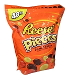 Reeses Pieces Peanut Butter Candy, 48 Ounces