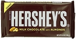 Hersheys Milk Chocolate With Almonds Giant Candy Bars, (Pack of 12)