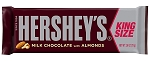 Hersheys Milk Chocolate With Almonds King Size Candy Bars, (Pack of 18)