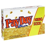 Pay Day King Size Candy Bars, (Pack of 18)