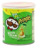 Pringles Sour Cream and Onion Flavor Chips, (Pack of 12)