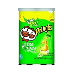 Pringles Sour Cream and Onion Flavor Chips 2.5 Ounce Packs, (Pack of 12)