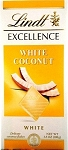 Lindt Excellence White Coconut Chocolate Bars, (Pack of 12)