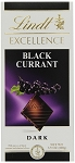 Lindt Excellence Black Currant Dark Chocolate Bars, (Pack of 12)