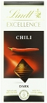 Lindt Excellence Chili  Dark Chocolate Bars, (Pack of 12)