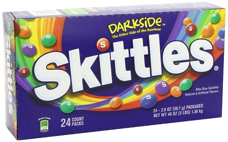 Skittles Darkside Candy, (Pack of 24)