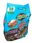 Twix Milky Way 3 Musketeers Snickers, (Pack of 58)