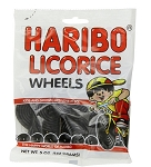 Haribo Black Licorice Wheels, (Pack of 12)