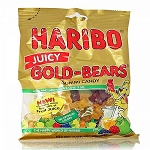 Haribo Juicy Gold Bears, 4 Oz Bags (Pack of 12)