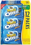 Mini Oreo Cookies Single Serve Packs, (Pack of 12)