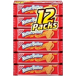 Nutter Butter Cookies Single Serve Packs, (Pack of 12)