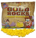 Gold Rocks Nugget Bubble Gum, (Pack of 12)