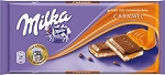 Milka Milk Chocolate With Caramel 3.5 Ounce Chocolate Bars, (Pack of 21)