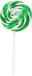 Green Whirly Pops 1.5 Ounce Pops, (24 Pack)