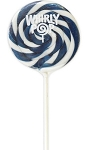 Navy Blue & White Whirly Pops 1.5 Oz, (24 Pack)