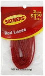 Sathers Red Laces Licorice, (Pack of 12)