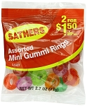 Sathers Gummy Rings, (Pack of 12)