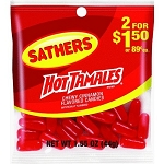Sathers Hot Tamales, (Pack of 12)