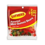 Sathers Mini Gummy Bears, (Pack of 12)