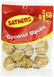 Sathers Coconut Stacks, (Pack of 12)