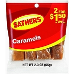 Sathers Caramels, (Pack of 12)
