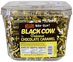 Black Cow Bite Size Candy, (160 Piece Tub)