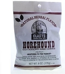 Claeys Candy Horehound Flavored Hard Candy, (Pack of 24)