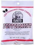 Claeys Candy Peppermint Flavored Hard Candy, (Pack of 24)