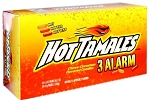Hot Tamales 3 Alarm Cinnamon Candy 1.8 Ounce Packs, (Pack of 24)