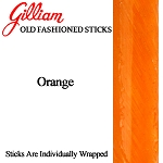 Gilliam Old Fashioned Orange Stick Candy, (Pack of 80)