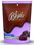 Asher's Sugar Free Dark Chocolate Raspberry Jellies 3 Ounce Bags, (Pack of 12)