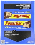Powerbar Plus Cookies and Cream Protein Bars, (Pack of 15)