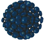 M & M Dark Blue Candy, 5 Pounds