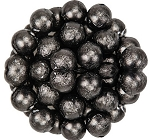 Black Foil Wrapped Milk Chocolate Balls, (10 Pounds)