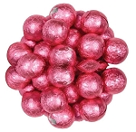 Pink Foil Wrapped Milk Chocolate Balls, (10 Pounds)