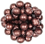 Brown Foil Wrapped Milk Chocolate Balls, (10 Pounds)