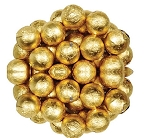Gold Foil Wrapped Milk Chocolate Balls, (10 Pounds)