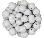 White Foil Wrapped Milk Chocolate Balls, (10 Pounds)