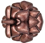 Brown Foil Wrapped Milk Chocolate Hearts, (10 Pounds)