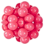 Oak Leaf Pink One Inch Gumballs, (Pack of 850)