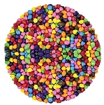 Mini Rainbow Chocolatey Chips, 10 Pounds