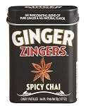Ginger Zingers Spicy Chai Flavored Candy 1.07 Ounce Tins, (Pack of 12)