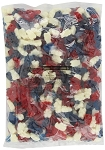 Albanese Patriotic Red White and Blue Gummy Bears, 5 Pounds