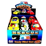 Rescue Candy Filled Cars Novelty Candy Toy, (Pack of 12)